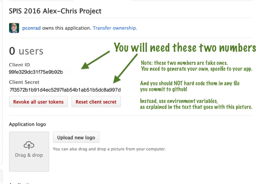The page with the GITHUB_CLIENT_ID and GITHUB_CLIENT_SECRET